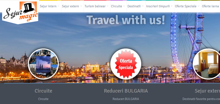 Creare site Agentie Turism Sejur Magic